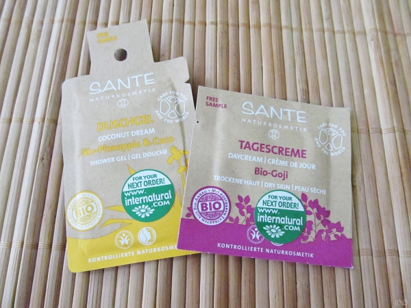 Sante facial care samples [Vegan Presence March box]
