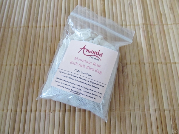 Mountain Rose Bath Salt Bliss Bag by Ananada Organics [Vegan Presence March box]